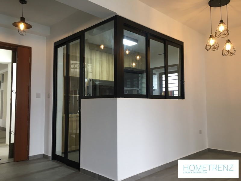 Ghim Moh 4 room by Hometrenz Design & Construction - Completed Below 800 sqft HDB Industrial Carpentry - Recommend.sg