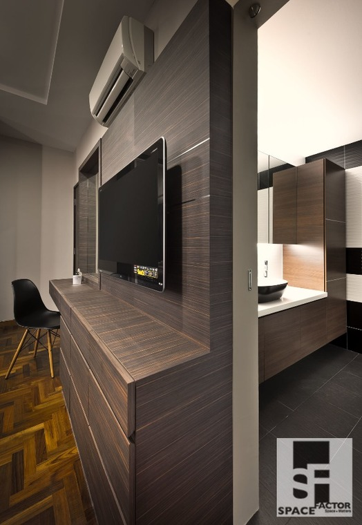 An Earthly Palette by Space Factor Private Limited - Completed Above 2400 sqft Terrace Bathroom Walk-in-wardrobe Kitchen Bedroom Urban Chic Modern Furniture Lighting Electrical Kitchen Cabinet TV Cabinet / Console Wall Decor - Recommend.sg