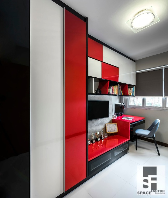 Colour Loft by Space Factor Private Limited - Completed Bathroom Walk-in-wardrobe Kitchen Bedroom European Contemporary Modern Kitchen Cabinet Furniture Lighting Electrical Wardrobe TV Cabinet / Console Wall Decor - Recommend.sg