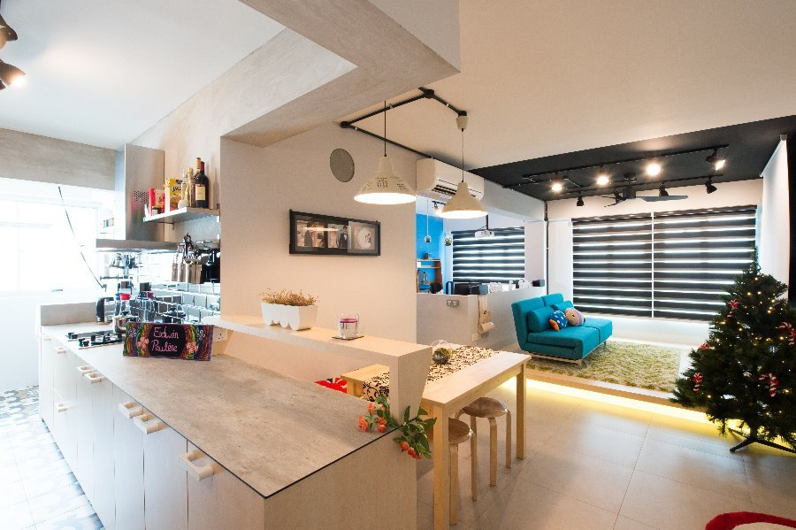 A New HDB at Fernvale Link by Crescendo Interior & Lifestyle Pte Ltd - Completed 800 - 1200 sqft HDB - Recommend.sg